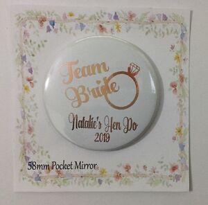 Pocket  Mirror Personalised Bag Makeup  Party Filler Wedding Favor Hen