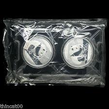 One Sheet (2 Pieces) of China 2016 Silver 1 Kilo Panda Coins