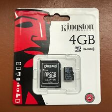 Kingston Micro SD 4GB SDHC Memory Card Mobile Phone Class 4 With SD ADAPTER