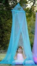 NEW GIRLS CHILD BED HOOP CANOPY PLAY TENT BABY SHOWER BLUE TULLE HEART TO HEART