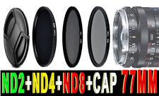 FILTRO NEUTRAL DENSITY ND2 ND4 ND8 77MM FILTER PER CANON FUJIFILM FX LEICA NIKON