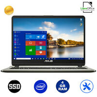 "Notebook Asus Vivobook Gold pc portatile 15,6""Intel,Ram 4Gb,SSd 256Gb,Windows 10"