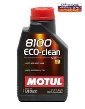 OLIO MOTORE MOTUL 8100 eco-clean 0w30 ACEA C2 API SN 100% sintetico 1lt