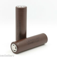 2X HG2 LG INR18650-HG2 3000mAh - 20A Lion Rechargeable Battery -