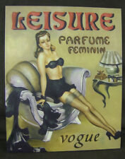 Óleo sobre lienzo estilo vintage y retro de arte de pared ~ francés Rubia Vogue seductora 17/8516