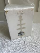 New listing Htf Hallmark 2009 The Ornament Express Display Stand Train Musical Rotating