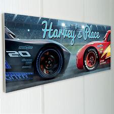 DISNEY CARS Personalised Door Sign Plaque Kids Bedroom McQuinn Son Nephew