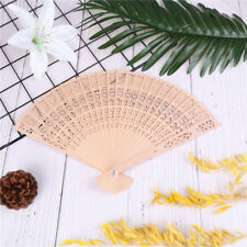 Retro Bamboo Fan Folding Wooden Carved Hand Fan for Outdoor WeddingParty FavorEP