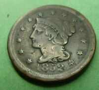 1852  Large Cent   #LC52A Very Nice Coin Better grade