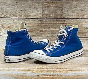 Converse All Star Chuck Taylor Hi Tops Athletic Shoes Blue Men-13   Women 15 EUC