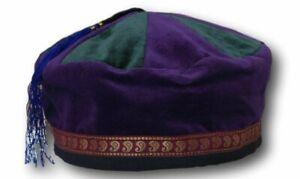 Medium sized cotton smoking / thinking / lounging cap with tassel