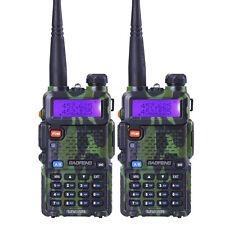 2 Pcs BaoFeng Uv-5R Green 136-174/400-520Mhz Dual-Band Fm ham 5R radio Walkie