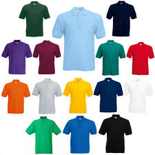 FRUIT OF THE LOOM POLO SHIRT SHORT SLEEVE MEN'S GOLF BOWLS TEAM T-SHIRT 63402
