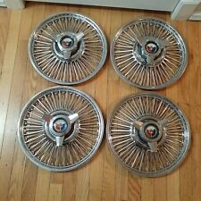 """1961-1964 Ford Galaxie 500 Spinner Hubcaps wire spoke hub caps 14"""""""