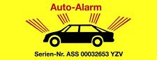 Aufkleber Auto-Alarm   Sticker Tattoo Auto Fun