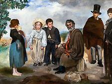 Édouard Manet - The Old Musician, Le Vieux Musicien, Art Poster, Canvas Print
