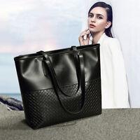 Frauen Damen Shopper Kunstleder Handtasche Reise Schulter Tasche Messenger Bag