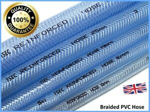 PVC Flexible Braided Water Hose Fish Pond Plastic Pipe Hydrophonics Tubing RPVC