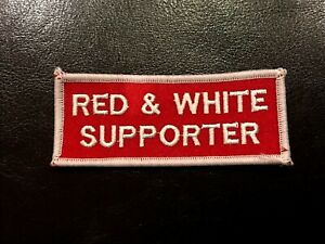 Red & White Supporter PATCH - Hells Angels Support Gear - Big Red Machine London