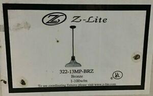 Z-Lite Bronze Forge 1 Light Full Size Pendant | Model 322-13MP