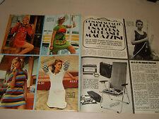 LORETTA GOGGI  clipping articolo foto photo 1971 MODA MAGAZZINI UPIMA
