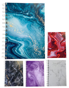 Various Colours Premium Marble A5 Lined Notepads 80gsm 70 Sheets