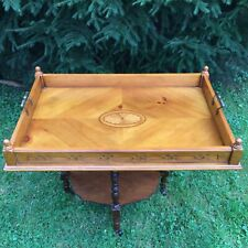 "32"" x 21"" x 5""  Large Bombay Tray Flips To Be Table Sofa Bed Coffee inlay carved"