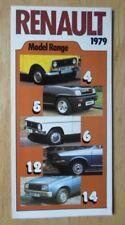 RENAULT RANGE orig 1979 Small Sales Brochure - 4 5 6 12 14 15 16 17 18 20 30
