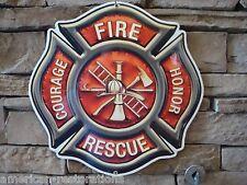 Fire Dept Badge Advertising Steel Sign Police Equipment Garage Man Cave Hat
