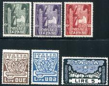 Italia 1923 177-182 ** Post freschi MARCIA SU ROMA FRASE 90 € (d4243