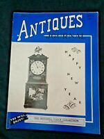 Antiques Journal 1950 Mitchell Clock Collection Blinking Eye Hollow Column Banjo