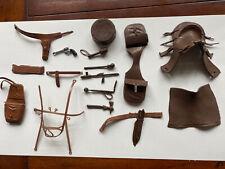 Marx Best of West ? Many Accessories Saddle Bag Knife Drum Spear Blanket Spear+