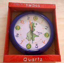 Twins Quartz Dinosaur Clock - Kids Children's Wall Clock