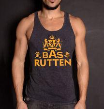 Roots of Fight Bas Rutten Black Heather XXL Tank Top,Pancrease Champion,UFC,MMA
