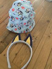 Bluey Kids Bucket Hat And Headband