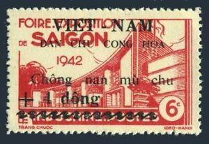 Viet Nam 1L51,hinged.Michel 52. Saigon Fair 1942.Indo-China 215 surcharged.