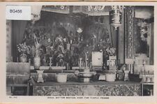 PENANG ~ RPPC ~ IDOLS, BOTTOM SECTION, AYER ITAM TEMPLE ~ c1930