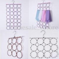 Clothes Tie Belt Shawl Scarf Hanger Holder Closet Organizer Hook 9-28 Ring  !
