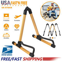 US Guitar Folding Stand A-Frame for Acoustic & Electric Guitar Bass Rack Holder