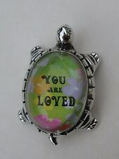 m You are loved LUCKY TURTLE FIGURINE ganz Life hope faith Message