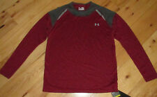 Under Armour l/s athletic shirt burgundy maroon Nwt S small mens' Upf 30+ loose