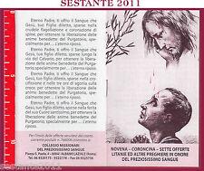 765 SANTINO HOLY CARD LIBRICINO PREGHIERE NOVENA LITANIE PREZIOSISSIMO SANGUE