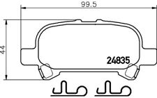 4x TEXTAR Pastillas de Freno Traseras 2483501