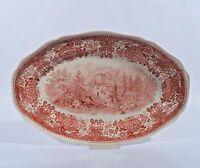Villeroy & Boch Burgenland Rot Servierplatte Platte 33,5 V&B Mettlach Keramik