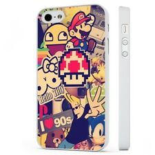 The 90S Collage Retro Cool WHITE PHONE CASE COVER fits iPHONE