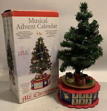 Vintage Mr. Christmas AVON Christmas is Coming Advent Revolving Musical Tree