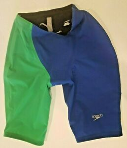 SPEEDO LZR RACER PRO JAMMER WITH CONTRAST LEG Blue/Green Size 30