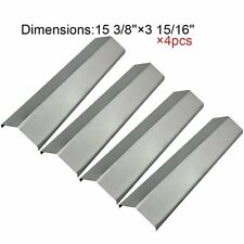 Stainless Steel Heat Plates 4pk BBQ Gas Grill Parts Shield Cover for Uniflame