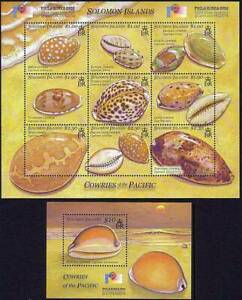 Solomon Is. 2002 COWRIE Shells  M/S + SS MNH MARINE LIFE, ANIMALS