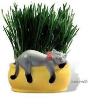 New Chia Cat Featuring Snoozing Kitty Grass Planter